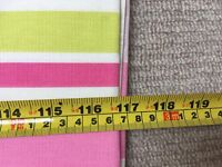 Curtains - girls brightly coloured candy striped bedroom curtains extra long drop