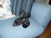 strappy sandals size 6nice for evening wear dressy worn 2 indoors