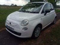 fiat 500 1200cc 1 years mot petrol 2008 5 speed white colour redinterior cheap insurance bargain car