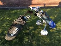 Golf clubs , bags , trolley etc
