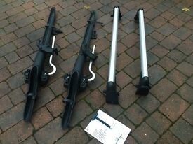 VW roof bars and bike carrier