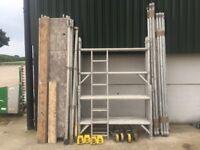 Boss youngman aluminium Scaffold Tower 6.2m working height