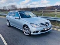 2010 MERCEDES C350 AMG SPORT FULLY LOADED 7G TRONIC FSH HPI CLEAR £7595 PX RANGE ROVER GTD GTI S3