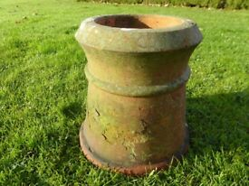 Antique Terracotta Chimney Pot Rustic Garden Planter height 12 inches