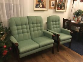 Sofa Two Seater and Armchair no rips or tears.