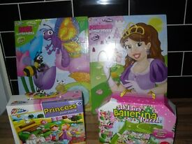 girls set of 4 puzzles all new