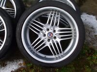 "Alpina alloy wheels 21"" staggered set 325/30 rear 295/35 front BMW"