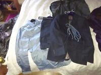 Mens next navy blue complete suit and shirt - new, 32R, 40""