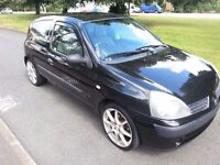 2005 '05' Renault Clio 1.2 16v Rush Black 67,000 Genuine miles Mot March 2017 fiesta polo size