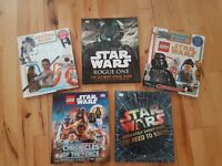 Star Wars Hardback Books x5, DK, Brand New, Includes a Lego Minifigure