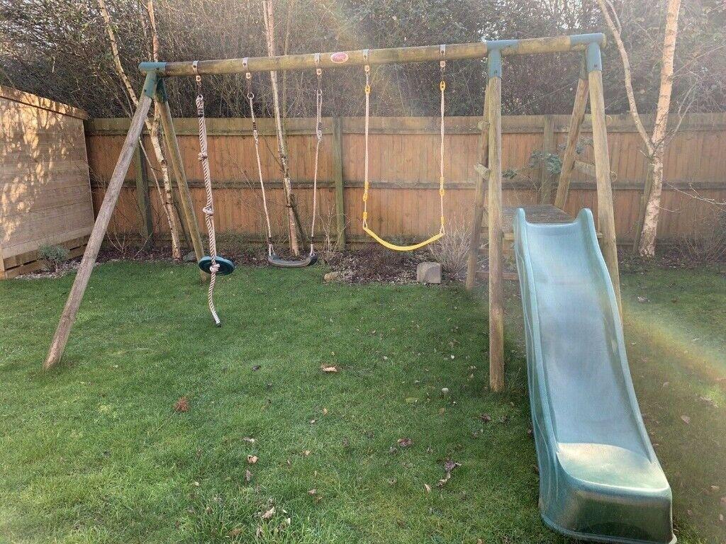 Plum Wooden Garden Swing Set With Slide In Northampton Northamptonshire Gumtree