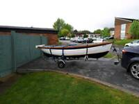 15ft fishing boat and trailer