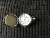 Jean Pierre Chrome plated pocket watch
