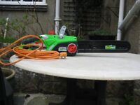 Electric chainsaw. New