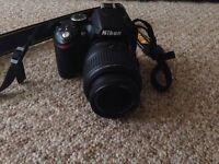 Nikon D3200 with 18-55mm lens