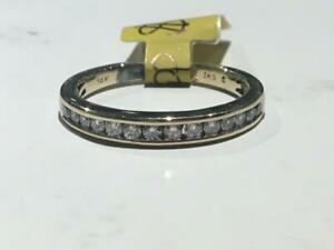 #148 14K YELLOW GOLD LADIES DIAMOND WEDDING BAND 0.32CT TOTAL *SIZE 7* APPRAISED AT $1750.00 SELLING FOR $595.00