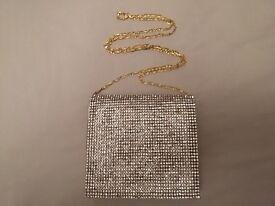 Gold Diamante Evening Bag