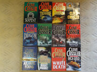 26 Clive Cussler Books - various titles - majority are hardback - all in excellent condition