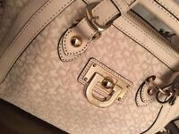 DKNY Cream Purse / Bag with a Front Buckle