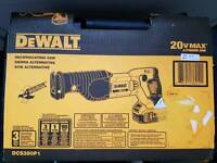 DEWALT DCS380P1 20V MAX* CORDLESS RECIPROCATING SAW KIT 110v charger