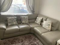 DFS grey corner sofa + cuddle chair