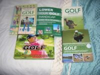 4 X GOLF BOOKS AND A 4 X DVD SET -CLOSE OFFERS CONSIDERED