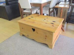 Mexican Solid Pine Storage Chest (Coffee Table)  - Used