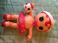 Lalaloopsy baby doll with hat, pants and bottle. Immaculate