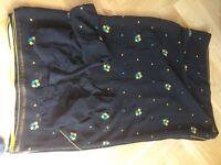 Unworn black saree