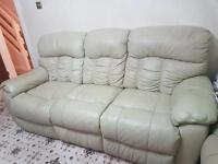 DFS reclining leather sofas 2x 3 seater and 1 x2 seater