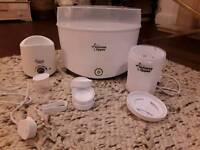 Tommee Tippee electric sterilized, microwave sterolizer and bottle warmer