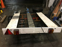 Bike trailer, with light board, can be converted to use with three motorbikes - £115 o.v.n.o.