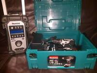 Makita dhp482rfwj drill and radio new