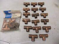 job lot of copper fittings