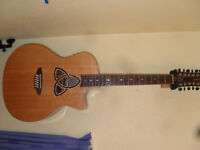 LUNA TRINITY 12 STRING GUITAR (Mint Condition) with hard case