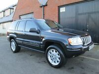2004 JEEP GRAND CHEROKEE DIESEL AUTOMATIC BLACK Part exchange available / Credit & Debit cards