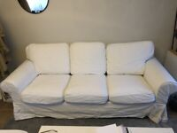3-seat sofa, white, GRÖNLID