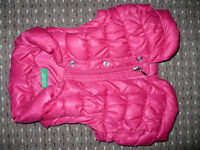 United Colors of Benetton Padded Gilet/Bodywarmer/Sleeveless Jacket/Vest for Girl 12-18mths old.