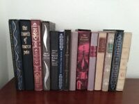 Selection of Folio Society books in hardcover cases from £10