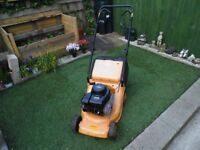 petrol lawnmower powered by a Briggs & Stratton engine self propelled