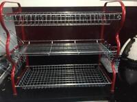 3 Tier Steel Dish Drainer Crockery Cutlery Rack Organiser Drip Tray
