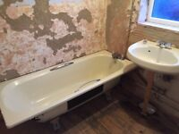 Cream/Yellow Twyfords vintage bathroom suite