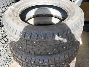 P185/65R14 studded tire x 4