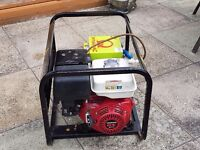 honda 4 stroke petrol generator very little used 5.5kv.vgc