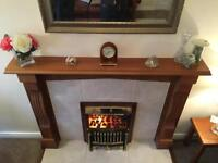Solid Mahogany fire surround.