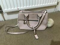 Top shop pink leather bag