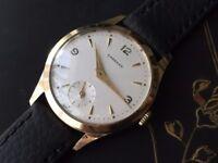 Stunning vintage 9k 9ct 375 solid gold Garrard mens watch REDUCED
