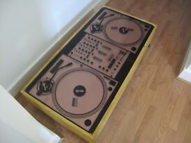 Awesome Technics turntables printed on 12 mm plate glass for DJ Charlie Sloth!One of only two.