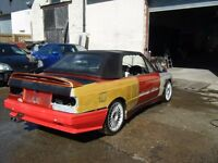 BMW E30 325I CONVERTIBLE M3 WIDEARCH KIT MINT SHELL EASY PROJECT 1 OFF CAR