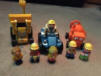 Assortment of Bob the builder figures and vehicles
